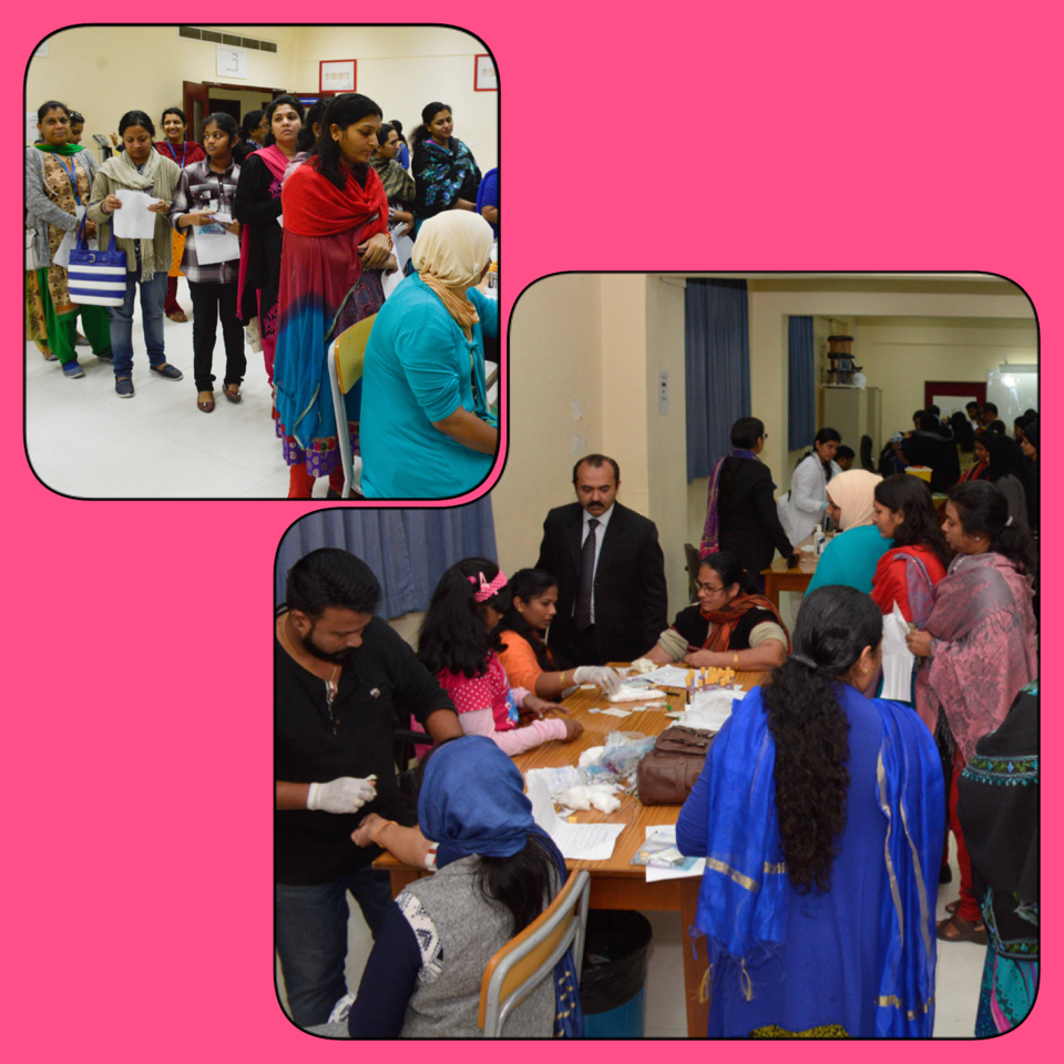 Blood Check camp for ISB Staff